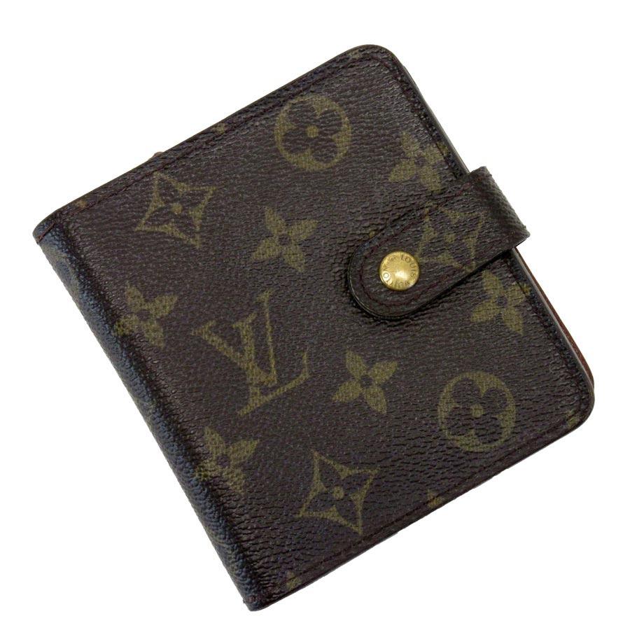 ルイヴィトン Louis Vuitton 二つ折り財布 モノグラム コンパクトジップ モノグラムキャンバス レディース メンズ M61667 【中古】【定番人気】 - t11855