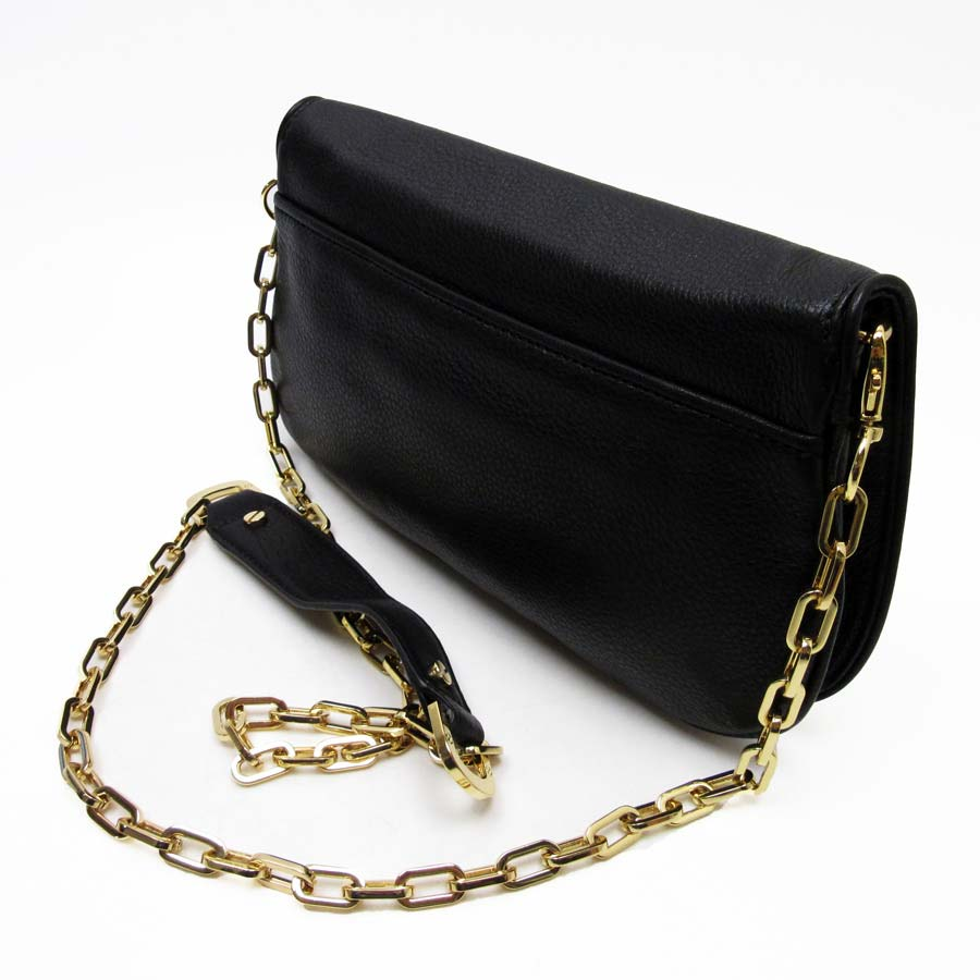 22fe9c8d85b4  basic popularity   used  take Tolly Birch  TORY BURCH  slant  shoulder bag  2Way bag clutch bag Lady s black leather