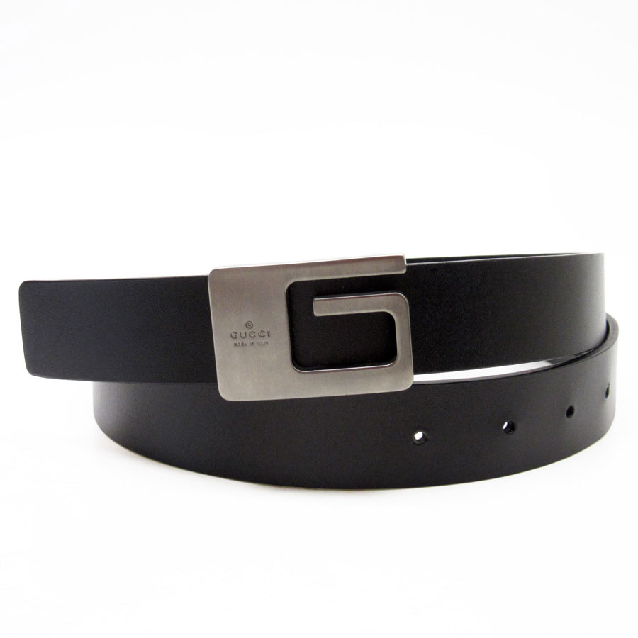 1740dc59e11 BrandValue  Gucci GUCCI belt (65 26) G buckle G buckle belt  A black  buckle  A gray belt  A leather buckle  Metal material - h15746