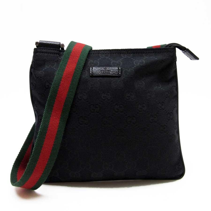 0c58bf5bb1d1 BrandValue: Take Gucci GUCCI slant; shoulder bag GG pattern black x green x  red canvas Lady's - h15868 | Rakuten Global Market