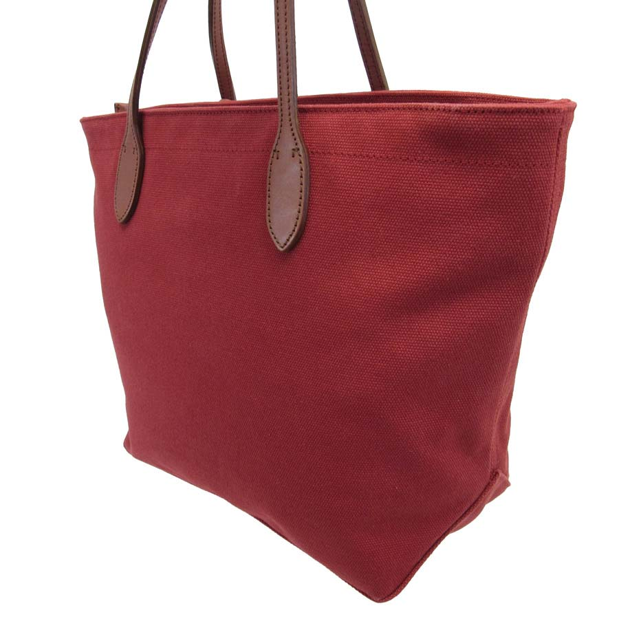 f8952c7d5e7 [basic popularity] [used] Ralph Lauren [Ralph Lauren] shoulder bag tote bag  Lady's red x brown canvas x leather