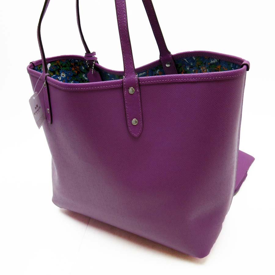 a87e070a7ab09  basic popularity   used  coach  COACH  shoulder bag tote bag Lady s purple  leather