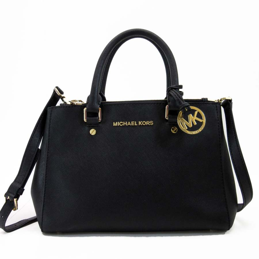 e89624da589 Take Michael Kors MICHAEL KORS handbag slant; shoulder bag 2Way bag black x  gold leather Lady's - t12028