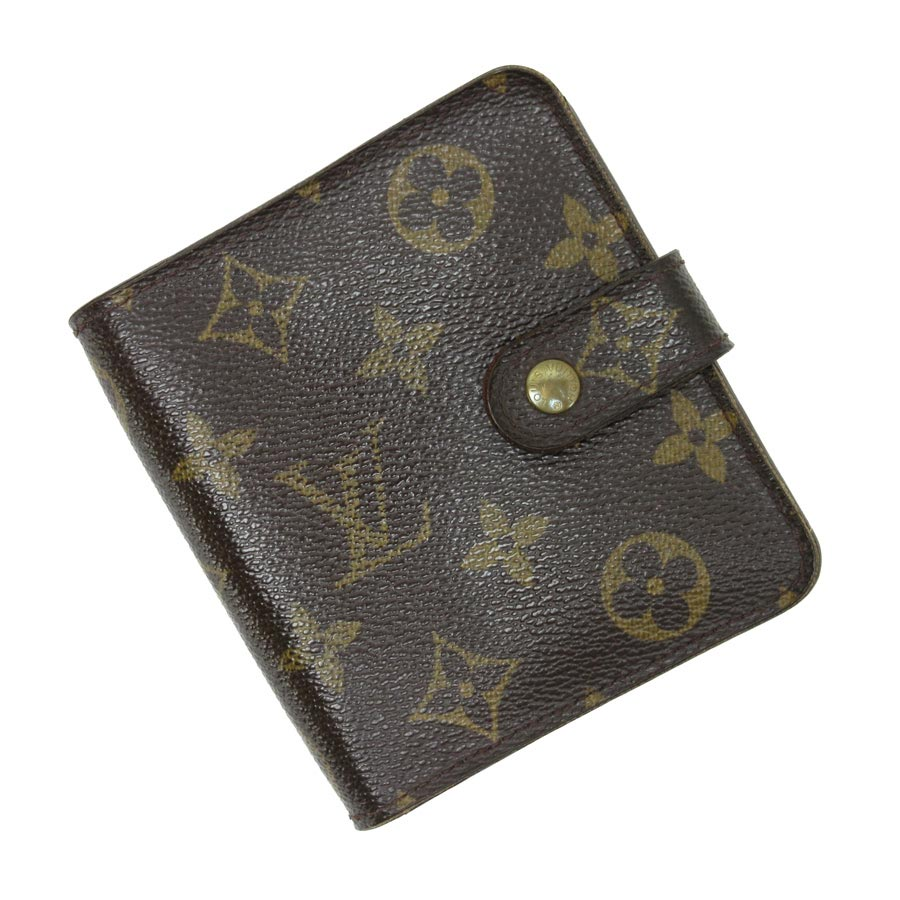 ルイヴィトン 二つ折り財布 モノグラム コンパクトジップ モノグラムキャンバス Louis Vuitton レディース メンズ M61667 【中古】【定番人気】 - t12114
