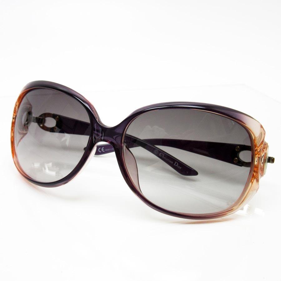 2f2af8994fba  basic popularity   used  a Christian Dior  Christian Dior  sunglasses 61 □  15 105 lady s frame  Clear orange x dark purple lens  Gray system gradation  ...
