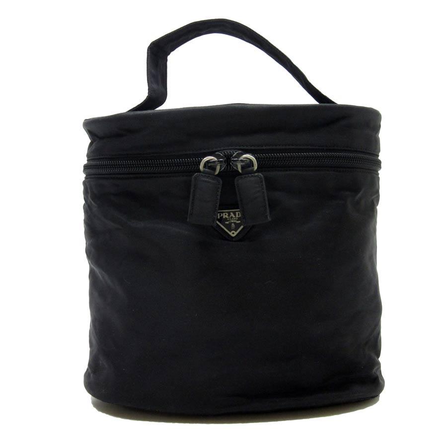 b76bef6d531e4f BrandValue: Prada PRADA handbag makeup porch make porch triangle  ロゴプレートバニティバッグブラックナイロンレディース - h16454 | Rakuten Global Market