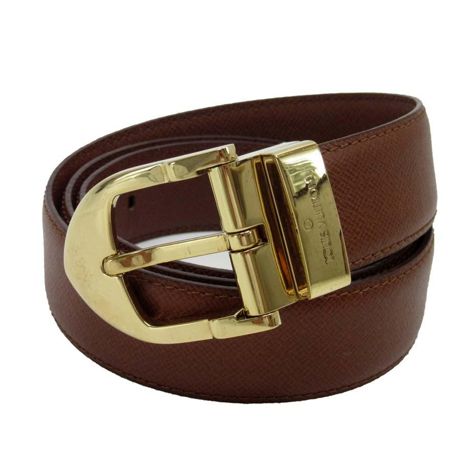 075ff4b150d Louis Vuitton Louis Vuitton belt (110/44) taiga sun Tulle classical music  brown x gold buckle taiga leather men - h16481