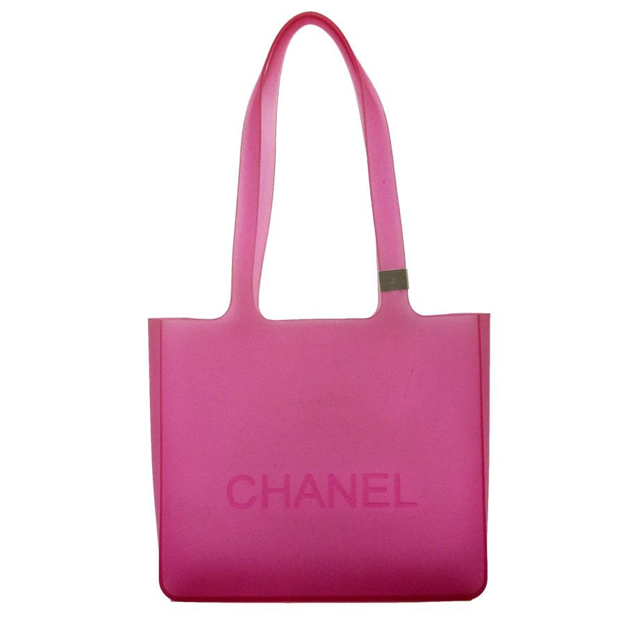 6f4d2cf2ad20 BrandValue: Chanel CHANEL shoulder bag tote bag vinyl bag clear purple  rubber Lady's - t12273 | Rakuten Global Market