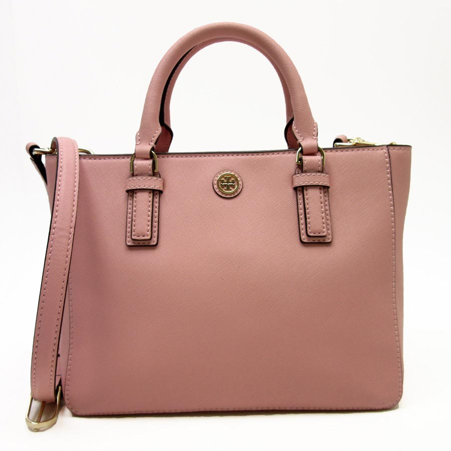 91ce484157 Take Tolly Birch [Tory Burch] handbag slant [is soot] [used]; shoulder bag  2Way bag lady pink x gold leather