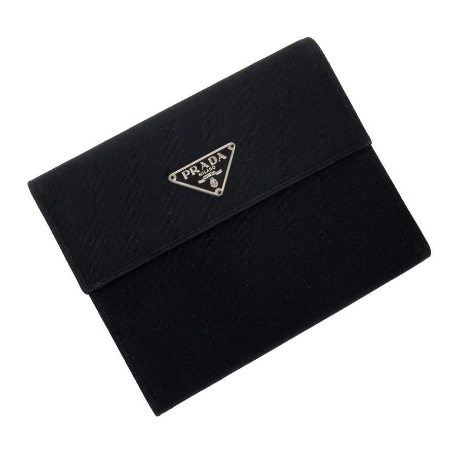 fb71fbc6f4c1 BrandValue: Prada PRADA three fold wallet triangle logo black nylon Lady's  men - t12390 | Rakuten Global Market
