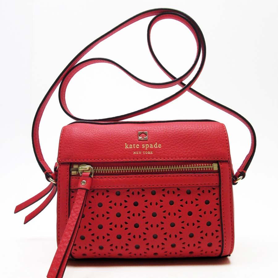 b9954dd8625 Take Kate spade kate spade slant; shoulder bag red leather Lady's - a1176