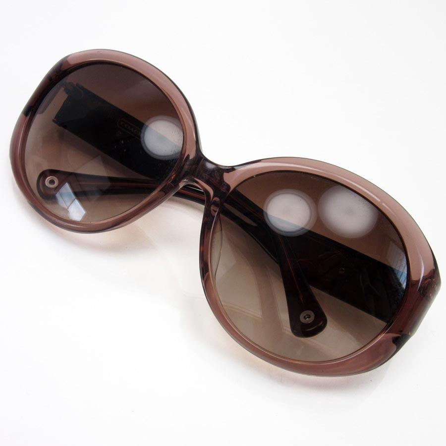 23774e480cd  basic popularity   used  a coach  COACH  mini-signature sunglasses 56 □ 17  125 lady s frame  Pink x Bordeaux lens  Brown plastic