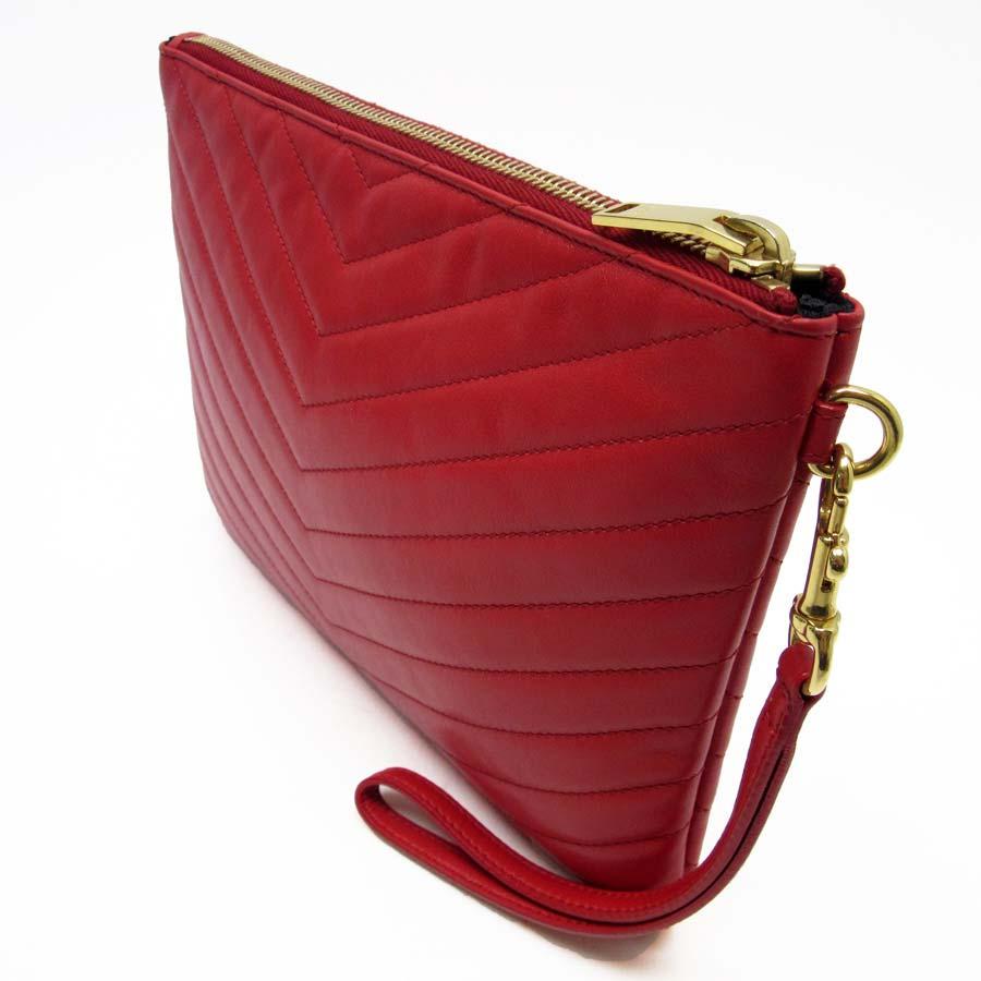 search for original special discount incredible prices Saint-Laurent SAINT LAURENT clutch bag second bag monogram Saint-Laurent  YSL red x gold calfskin Lady's - h17042