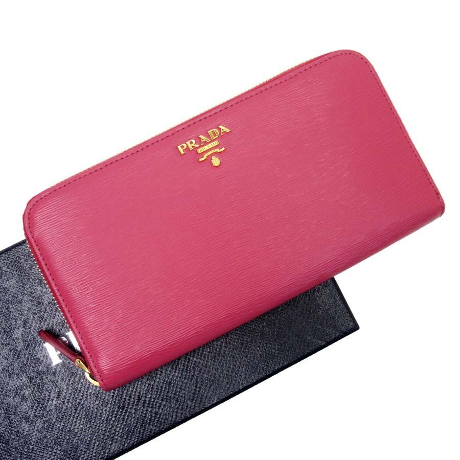 b22fea50a48  basic popularity   used  Prada  PRADA  サフィアーノラウンドファスナー long wallet Lady s  PEONIA (ペオニア) サフィアーノレザー