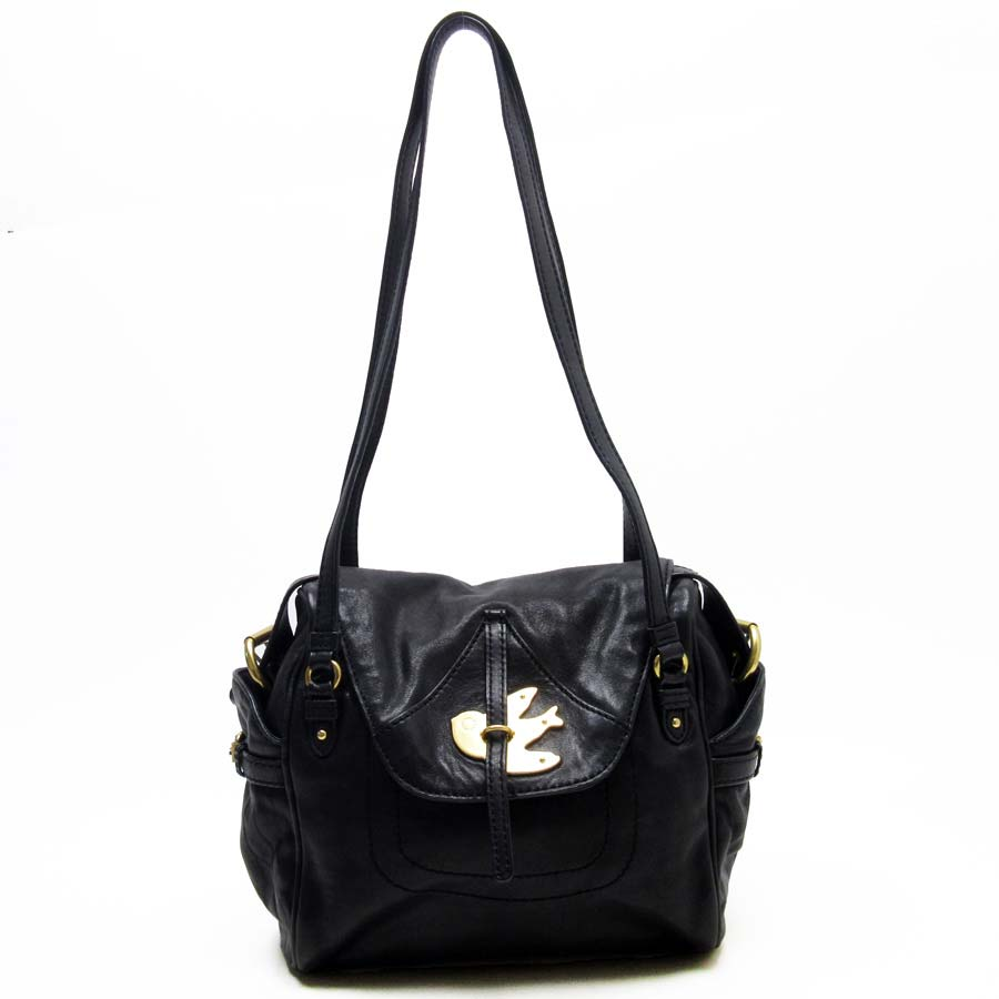 2521fac11269  basic popularity   used  mark by mark Jacobs  MARC BY MARC JACOBS  handbag  shoulder bag 2Way bag lady black x gold leather