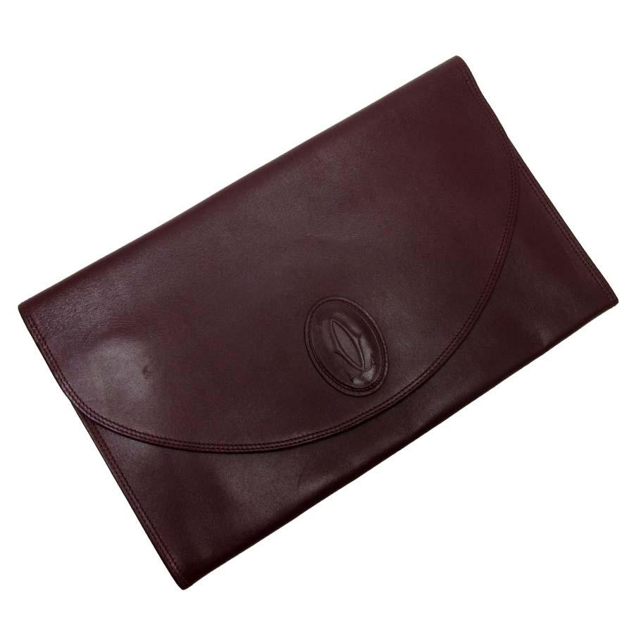 9f9c9bec51 It is Cartier [Cartier] mast line clutch bag documents bag lady men  Bordeaux leather [soot] [used]