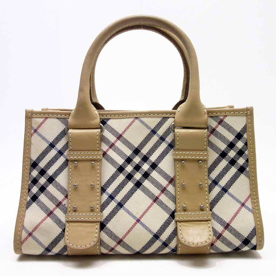 5e32a7b655a BrandValue: Burberry blue label BURBERRY BLUELABEL handbag tote bag blue  label ivory x beige x black x red canvas x leather Lady's - h17499    Rakuten Global ...