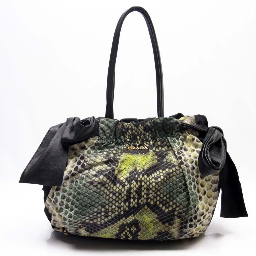32c2f8213a7d BrandValue: Prada PRADA shoulder bag tote bag black x gold nylon x leather  Lady's - h17552 | Rakuten Global Market