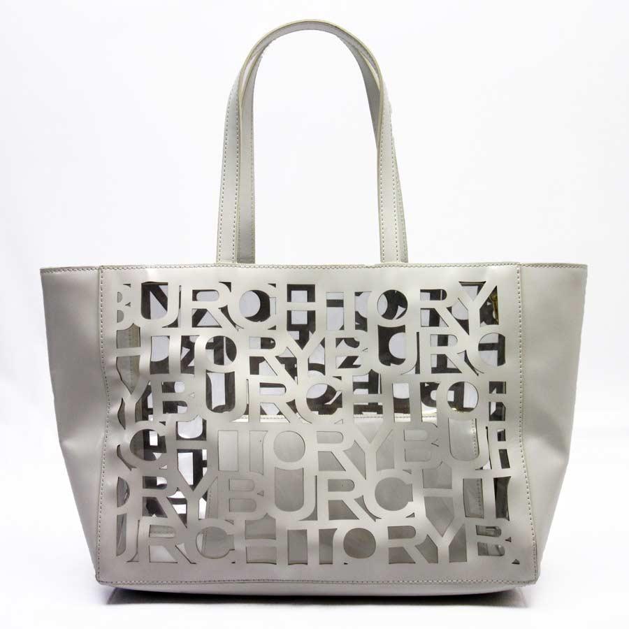 25a1e9420e4c BrandValue: Tolly Birch Tory Burch shoulder bag tote bag vinyl bag clear x  white leather x vinyl Lady's - h17606 | Rakuten Global Market