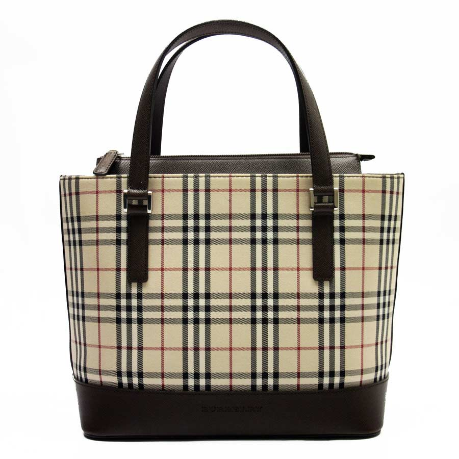 cfbe7b54aa30  basic popularity   used  Burberry  BURBERRY  Novacek handbag tote bag  Lady s beige x brown canvas x leather