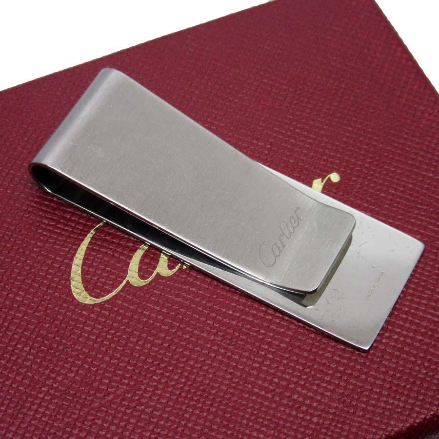 カルティエ Cartier マネークリップ シルバー スティール 【中古】【定番人気】 - t12699