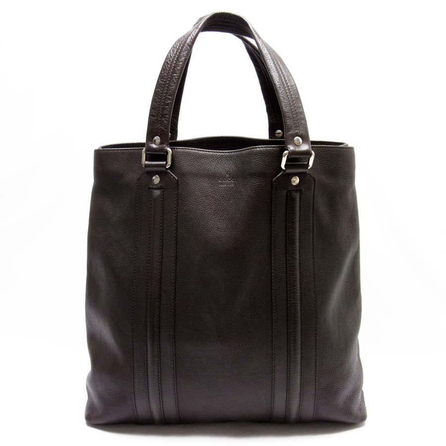 Brandvalue Gucci Shoulder Bag Dark Brown Leather Lady S Men 87 527 Rakuten Global Market