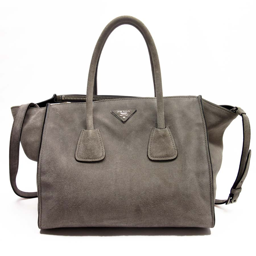 b454a4ebdb49 ... closeout basic popularity used prada prada triangle logo handbag  shoulder bag 2way bag lady grace wade