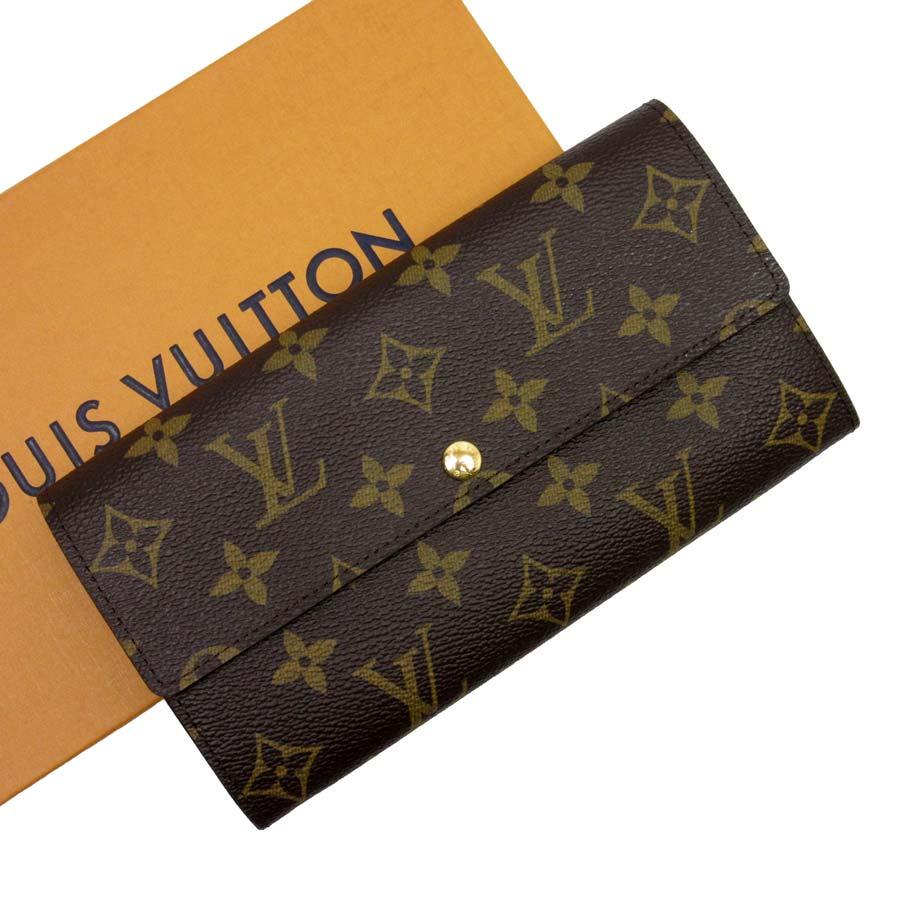 ルイヴィトン Louis Vuitton 二つ折り長財布 モノグラム ポルトフォイユ・サラ モノグラムキャンバス レディース M61734 【中古】【定番人気】 - h17986