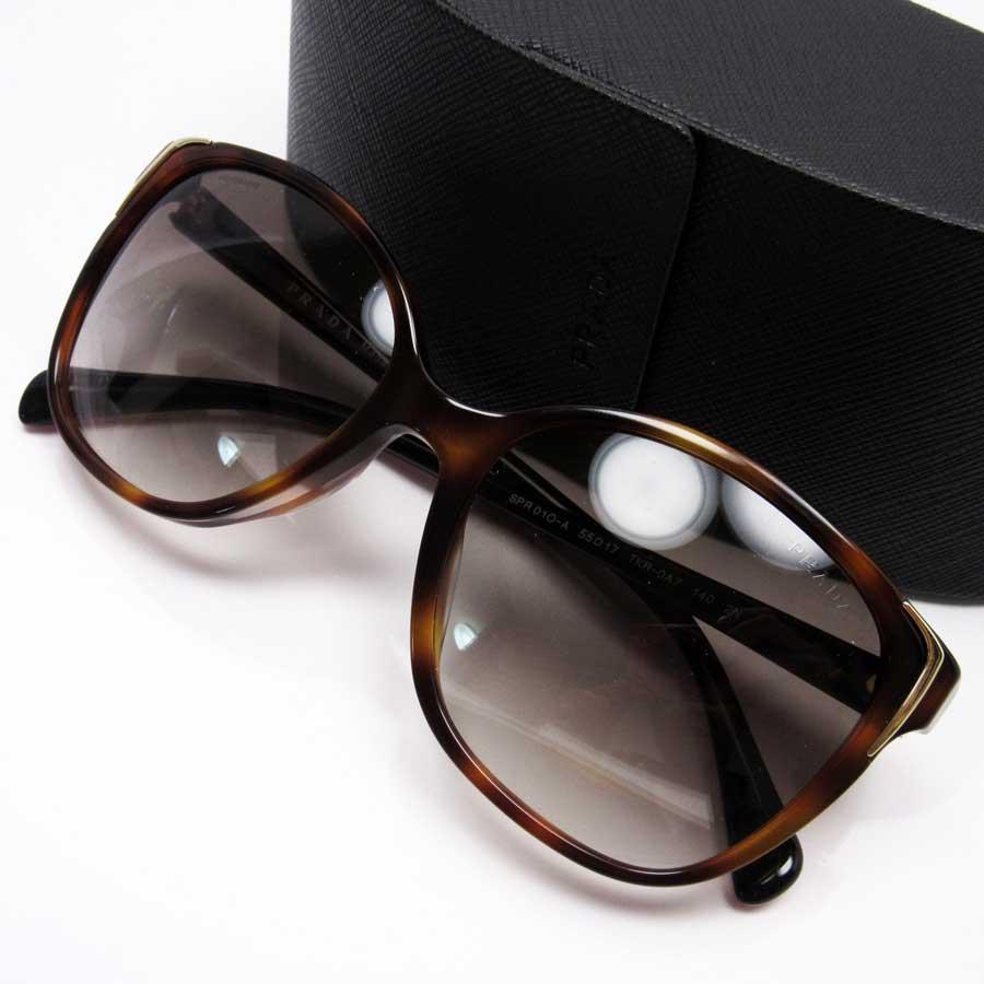 b077bf509155  basic popularity   used  a Prada  PRADA  tortoiseshell sunglasses 55 □ 17  140 lady s men s frame  Brown x red x black x gold lens  Black plastic