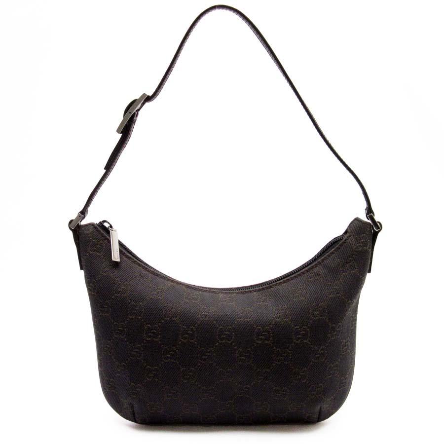 ecd2848d28 BrandValue: Gucci GUCCI shoulder bag GG dark brown canvas x leather Lady's  - t12851 | Rakuten Global Market