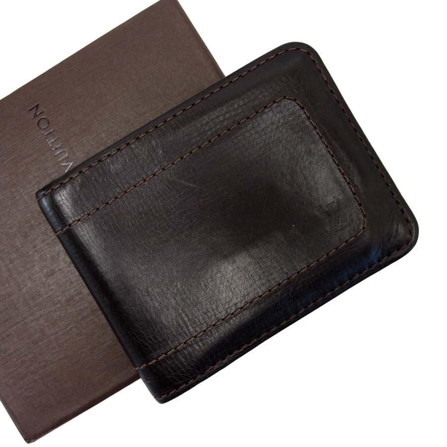 ルイヴィトン Louis Vuitton 二つ折り財布 ポルト ビエ 6カルト ブラウン レザー レディース メンズ 【中古】【定番人気】 - t12921