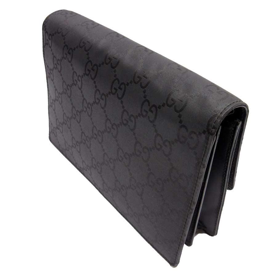 838c54c92b4  basic popularity   used  Gucci  GUCCI  GG clutch bag second bag black  nylon x leather