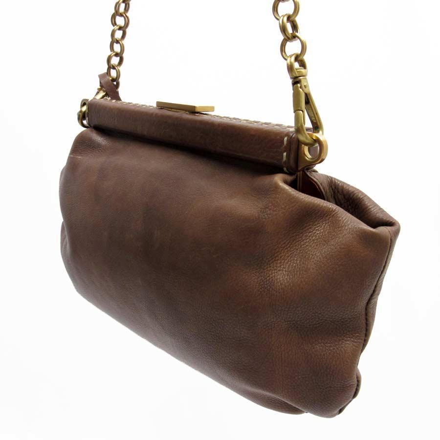 50b238c184d9 ... gold leather chain crossbody bag bp0623 35053 f5ef8 new zealand basic  popularity used prada prada 2way bag clutch bag chain shoulder bag ladys  brown ...