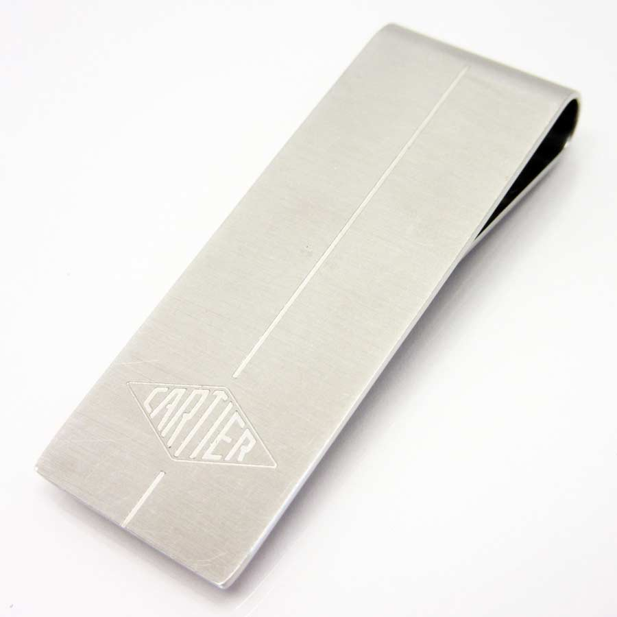 8c55f621cce9 [basic popularity] [used] steal Cartier [Cartier] money clip Lady's men  silver
