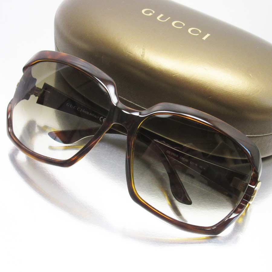 fa1e56007 BrandValue: Gucci GUCCI sunglasses 62 □ 16 115 interlocking grip G frame:  Tortoiseshell x gold x red x green lens: Brown plastic Lady's men - h18225  ...