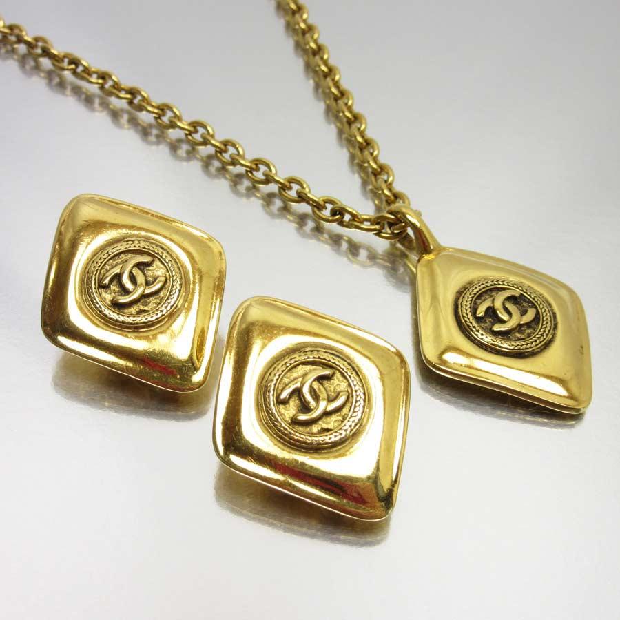 Brandvalue Chanel Earrings Necklace Set Here Mark Gold Metal Material Lady S H18228 Rakuten Global Market