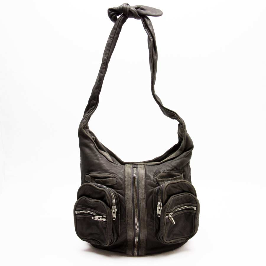 Alexander One Shoulder Bag Gray Leather X Suede Lady S T13018