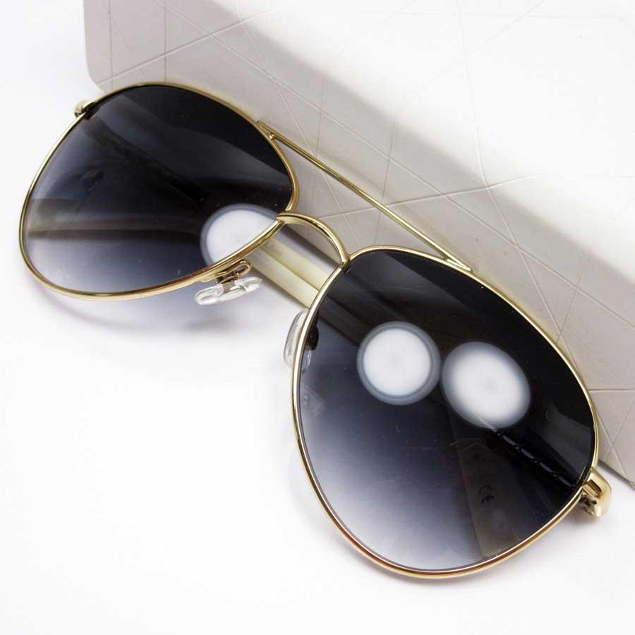 d4727cda153  basic popularity   used  Christian Dior  Christian Dior  teardrop sunglasses  Lady s frame   temple  Gold   white lens  Dark blue SS