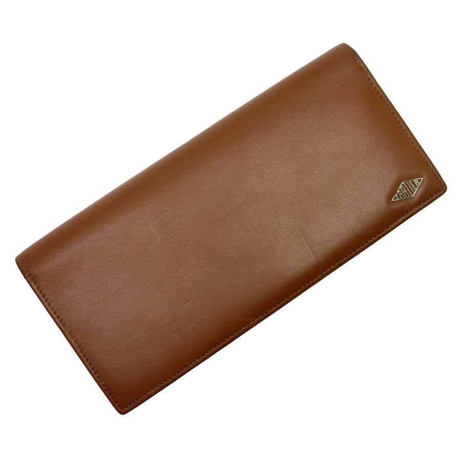 カルティエ Cartier 二つ折り長財布 ブラウン レザー 【中古】【定番人気】 - g0234