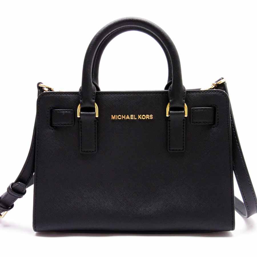 cca8c647bf1 Take Michael Kors MICHAEL KORS handbag slant; shoulder bag 2Way bag black  leather Lady's - g0248