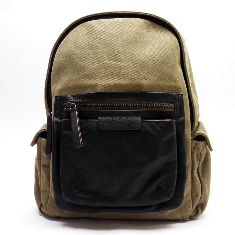 7dd297eb9e BrandValue: Mark by mark Jacobs MARC BY MARC JACOBS rucksack backpack brown x  black canvas x leather Lady's men - n8591 | Rakuten Global Market