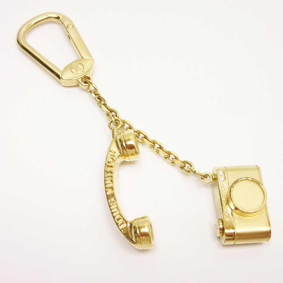 ルイヴィトン Louis Vuitton キーホルダー チャーム ポルトクレ・ハリウッド ゴールド 金属素材 レディース M65382 【中古】【定番人気】 - t13061