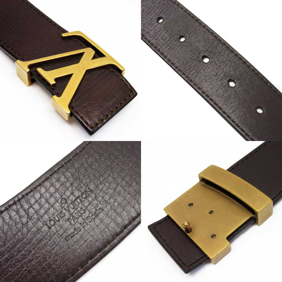 a6667fbc7f5c  basic popularity   used  Louis Vuitton  Louis Vuitton  Utah sun Tulle  initial belt (85 34) men s dark brown x gold Utah leather