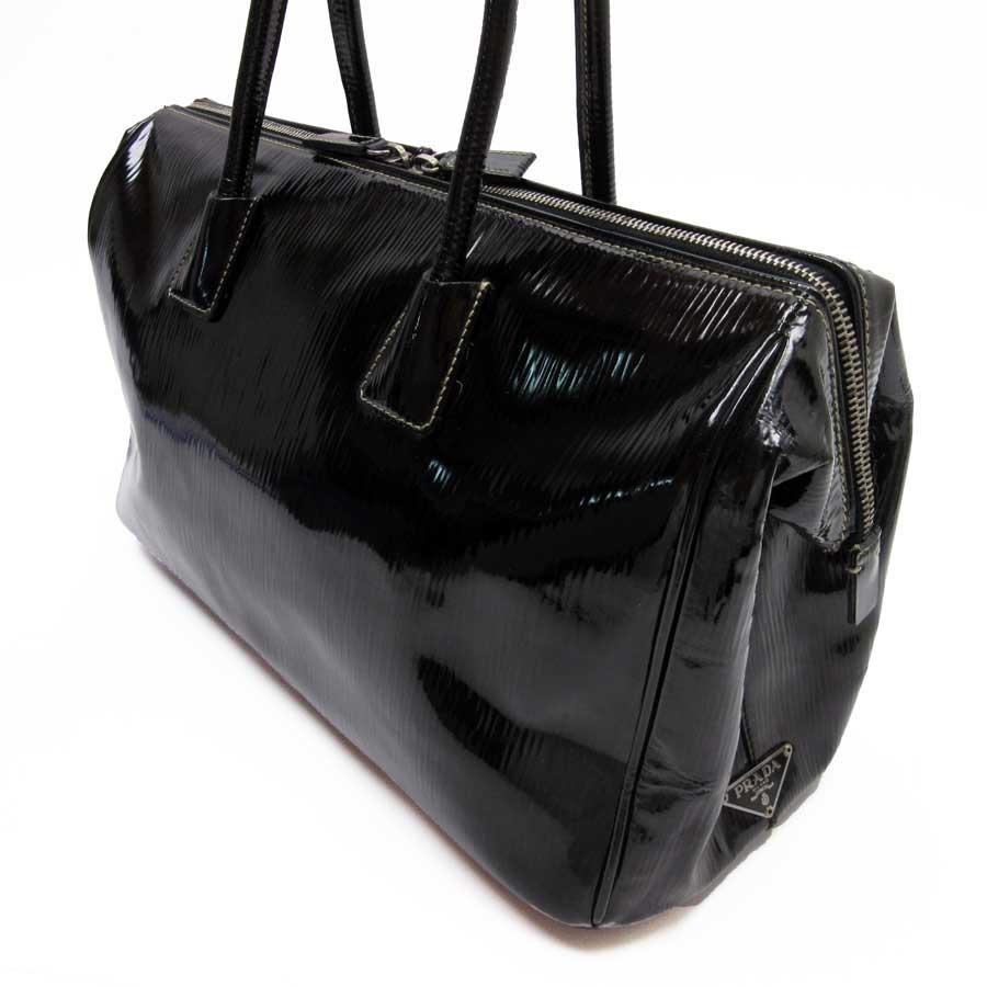 ca832b69d379 [basic popularity] [used] Prada [PRADA] handbag Lady's black patent leather