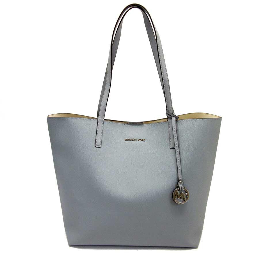 Used Michael Kors Handbags >> Brandvalue Michael Kors Tote Bag Blue Leather Michael Kors Lady S