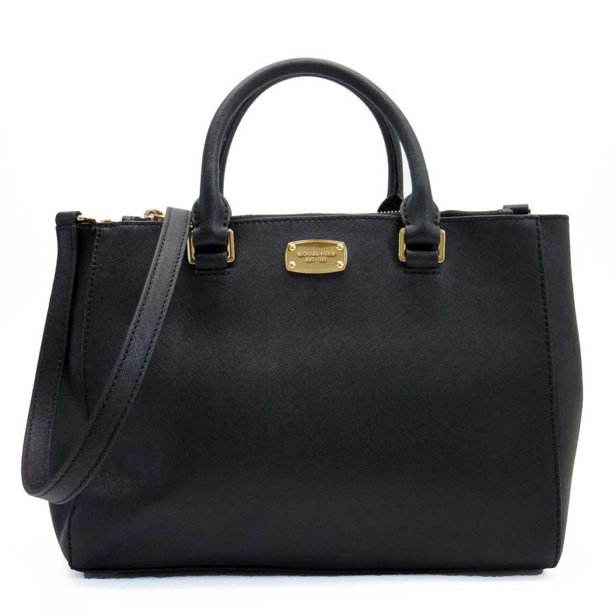 fe0b50e0b85 Take Michael Kors MICHAEL KORS handbag slant; shoulder bag 2Way bag black x  gold leather Lady's - g0325