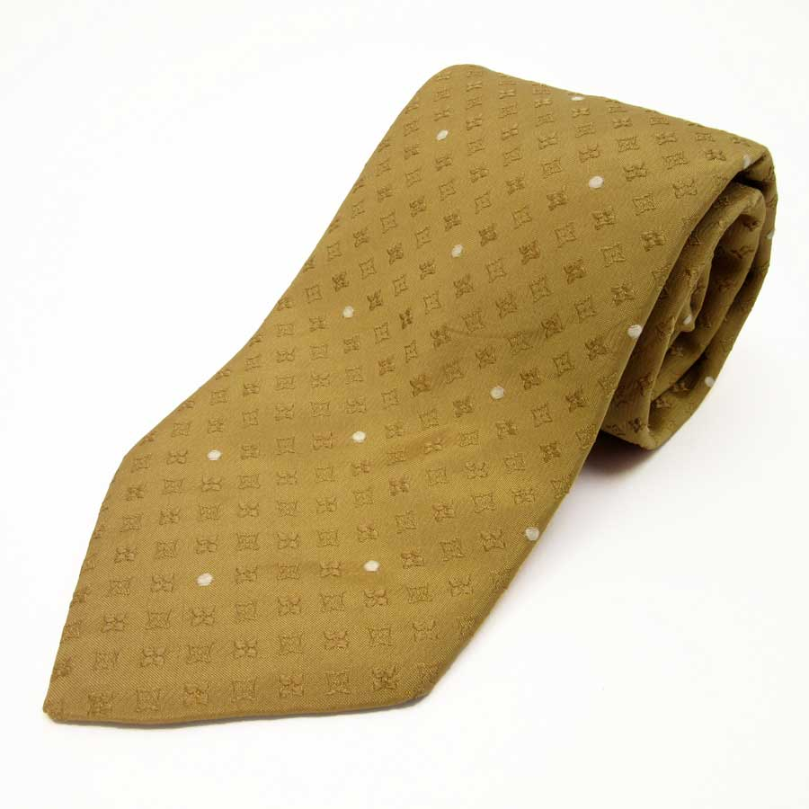 3ef105678a36  basic popularity   used  100% of Louis Vuitton  Louis Vuitton  monogram  tie Lady s men camel x gold silk