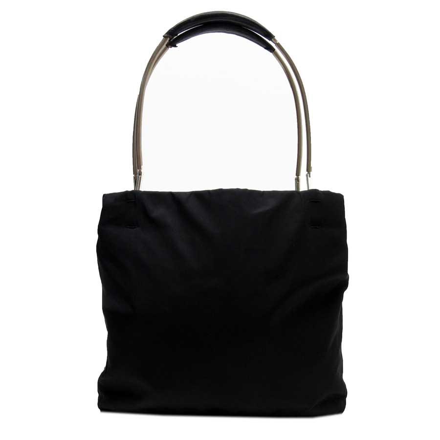 b6d1b429f33c BrandValue: Prada PRADA shoulder bag triangle logo NERO (black) x silver nylon  x leather x metal material Lady's - h19019 | Rakuten Global Market
