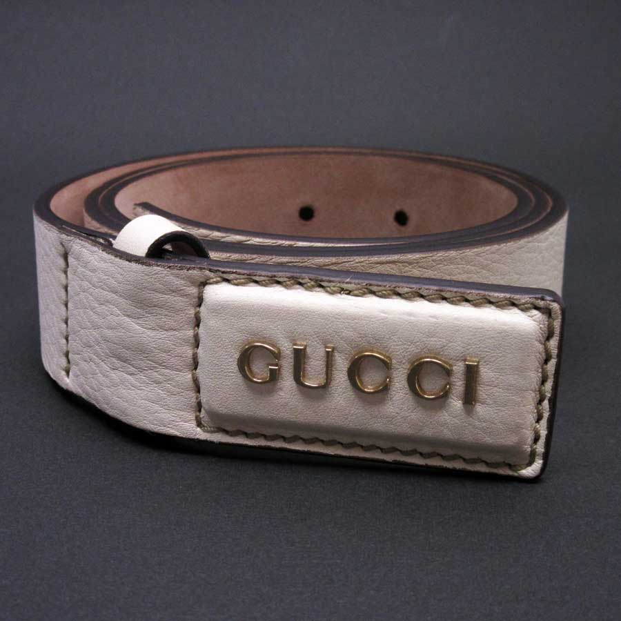 d99803dc9ec  basic popularity   used  Gucci  GUCCI  belt (85 34) ivory leather