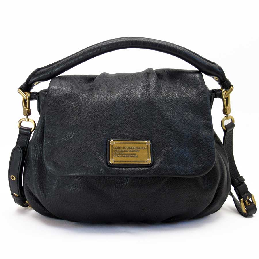 80b2daab382 BrandValue: Mark by mark Jacobs MARC BY MARC JACOBS handbag shoulder bag  2Way bag black x gold leather Lady's - n8716 | Rakuten Global Market
